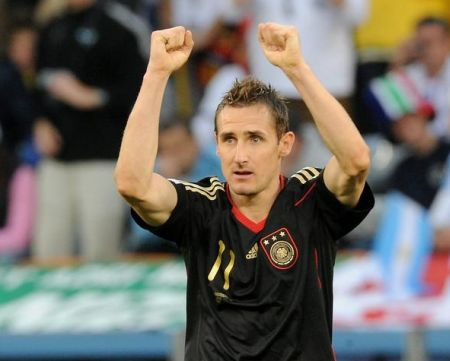 Miroslav Klose, der zweifache Torschütze gegen Argentninien
